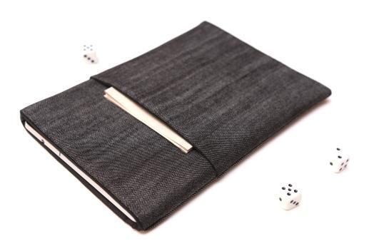 Samsung Galaxy Tab Advanced 2 case sleeve pouch dark denim with pocket
