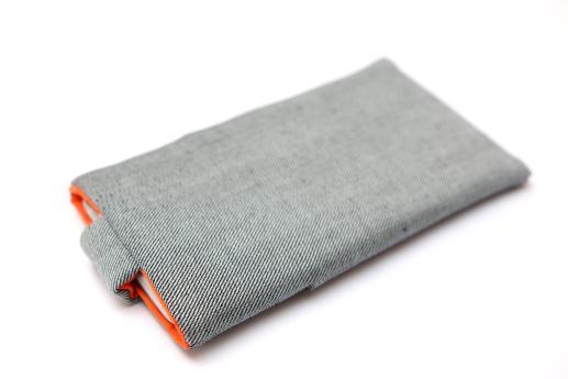 Motorola Moto Z Force sleeve case pouch light denim magnetic closure pocket red owl