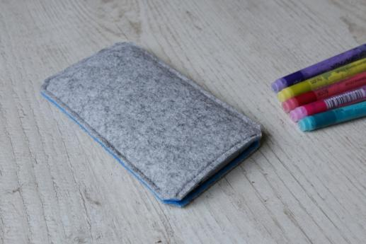 Motorola Moto G4 Play sleeve case pouch light felt black arrow pattern