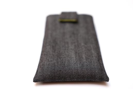 Xiaomi Redmi 2 sleeve case pouch dark denim with magnetic closure