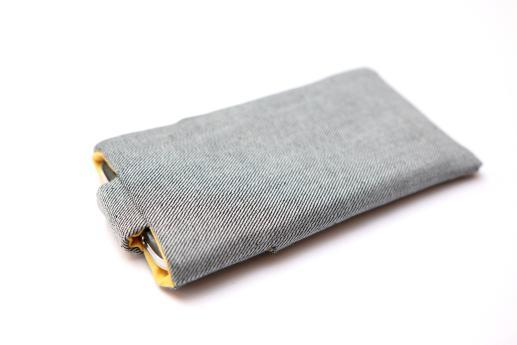 Xiaomi Mi 4 sleeve case pouch light denim with magnetic closure and pocket