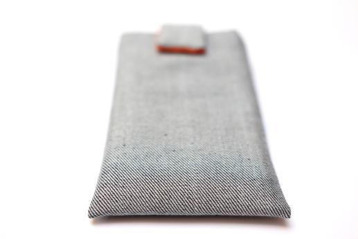 Xiaomi Mi 4 sleeve case pouch light denim with magnetic closure
