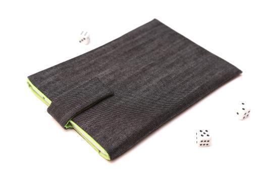 Apple iPad Mini 4 case sleeve pouch dark denim with magnetic closure