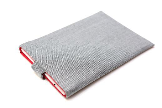 Apple iPad Mini 2 case sleeve pouch light denim with magnetic closure