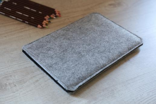 Apple iPad Air case sleeve pouch light felt pocket black cube pattern