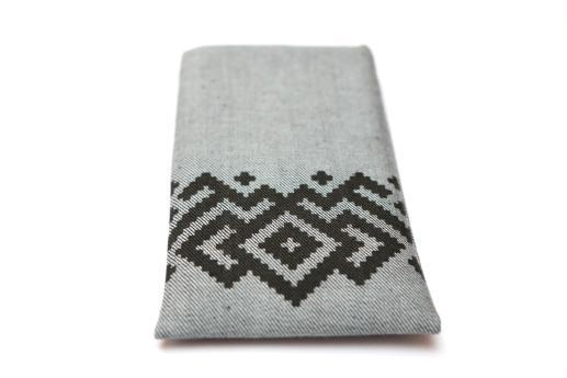 Google Pixel sleeve case pouch light denim with black ornament
