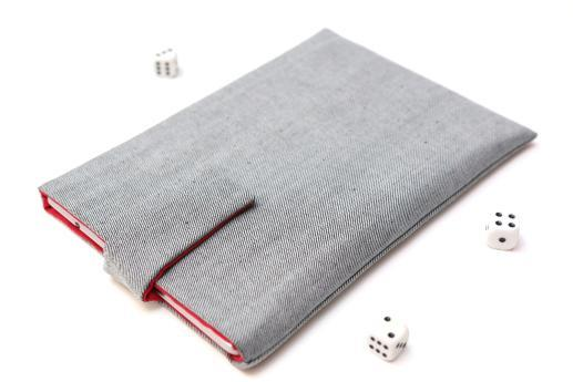 Fire case sleeve pouch light denim with magnetic closure
