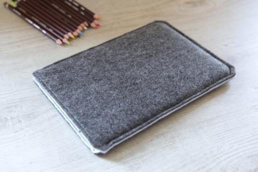 Fire HD 8 case sleeve pouch dark felt pocket black cube pattern