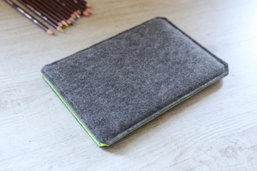 Fire HD 8 case sleeve pouch dark felt pocket black arrow pattern