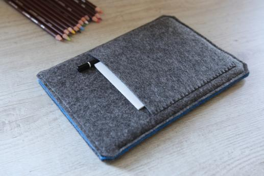 Samsung Galaxy Tab A 8.0 case sleeve pouch dark felt pocket
