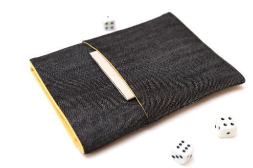 Kindle 2016 sleeve case ereader dark denim with pocket