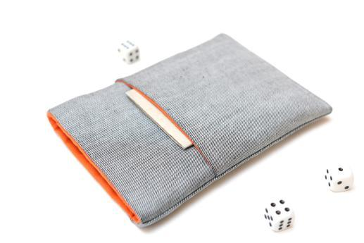 Kindle Voyage sleeve case ereader light denim with pocket