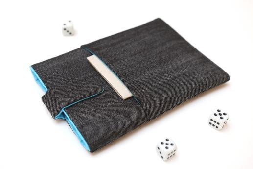 Kobo Mini sleeve case ereader dark denim with magnetic closure and pocket