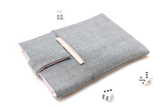 Kobo Mini sleeve case ereader light denim with magnetic closure and pocket