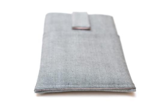 Kobo Mini sleeve case ereader light denim with magnetic closure and pocket