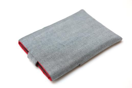 Kobo Glo sleeve case ereader light denim magnetic closure pocket red owl
