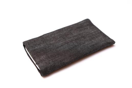 HTC One M9 sleeve case pouch dark denim with pocket