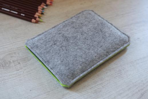 Kobo Glo sleeve case ereader light felt pocket black cube pattern