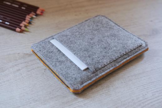 Kobo Glo HD handmade sleeve case pouch ereader light felt with pocket in  the front