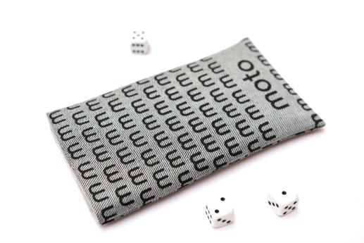 Motorola Moto G4 Play sleeve case pouch light denim black moto pattern