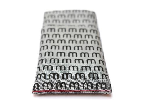 Motorola Moto X 2014 sleeve case pouch light denim pocket black M pattern
