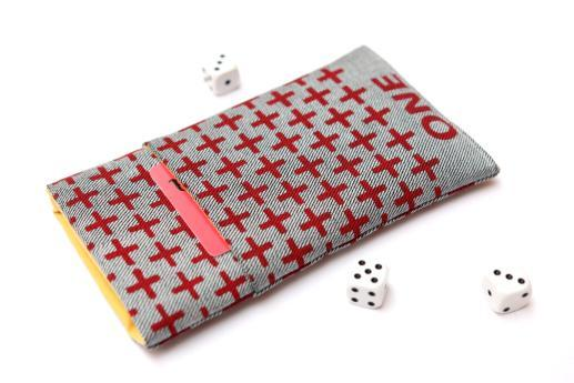 OnePlus One sleeve case pouch light denim pocket red one plus pattern