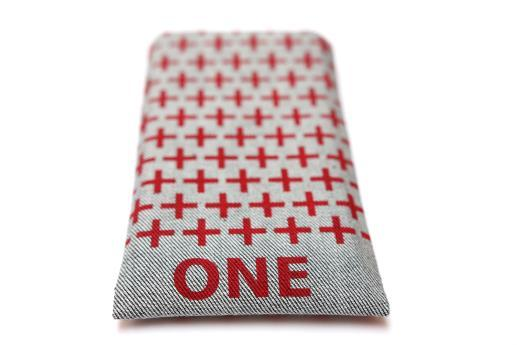 OnePlus One sleeve case pouch light denim red one plus pattern