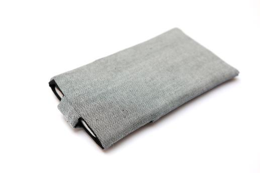 LG Nexus 4 sleeve case pouch light denim magnetic closure pocket black Nexus logo