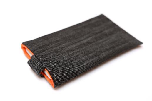 Motorola Nexus 6 sleeve case pouch dark denim magnetic closure white Nexus logo