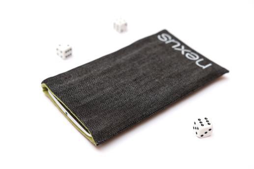 Motorola Nexus 6 sleeve case pouch dark denim white Nexus logo