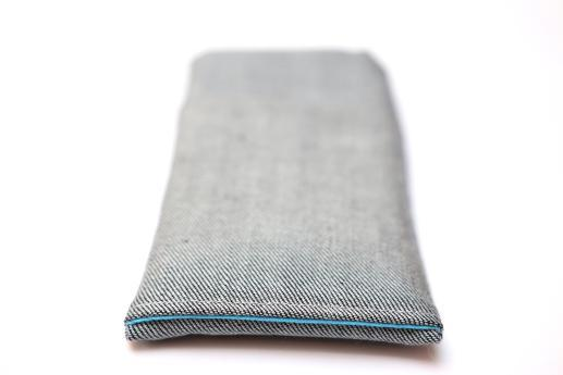 Samsung Galaxy S8 sleeve case pouch light denim with pocket