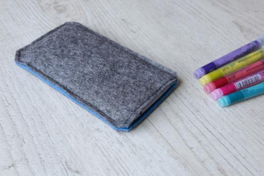 Samsung Galaxy S8 sleeve case pouch dark felt pocket black arrow pattern