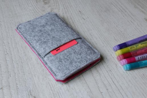 HTC One M8 sleeve case pouch light felt pocket