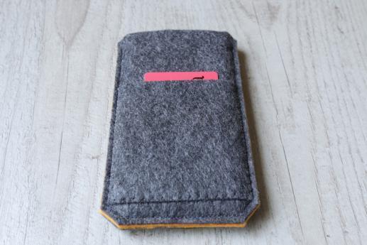 HTC One M7 sleeve case pouch dark felt pocket