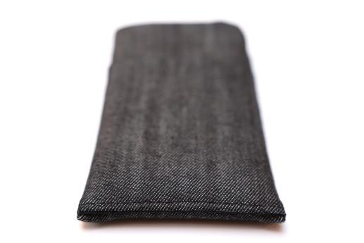 Apple iPhone XS sleeve case pouch dark denim with pocket