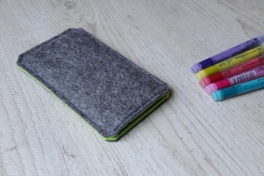 HTC One M8 sleeve case pouch dark felt