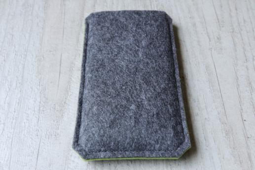 HTC One M8 sleeve case pouch dark felt