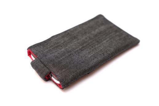 Apple iPhone 11 sleeve case pouch dark denim with magnetic closure and pocket