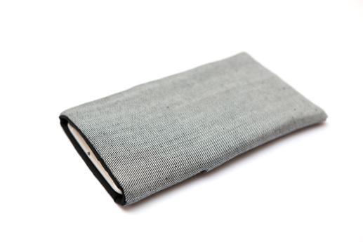 LG Stylo 5 sleeve case pouch light denim pocket black ornament